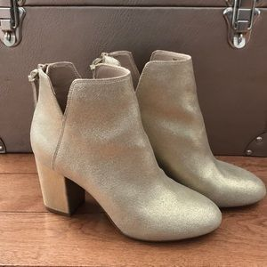 ALDO Gold Ankle Boots